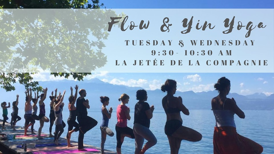 Flow & Yin Yoga Wednesday mornings by the lake avec Ludmila