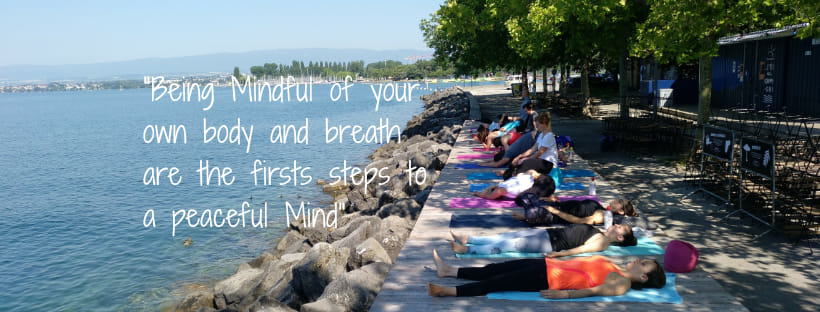 Mindful movements by the lake avec Omcean yogi